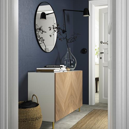 BESTÅ - 貯物組合連門, white/Hedeviken/Ösarp oak veneer   IKEA 香港及澳門 - PE823241_S4