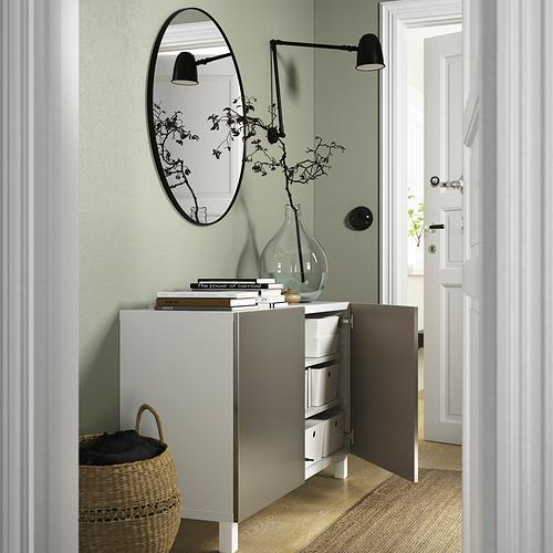 BESTÅ - 貯物組合連門, white/Riksviken/Stubbarp light bronze effect | IKEA 香港及澳門 - PE823227_S4