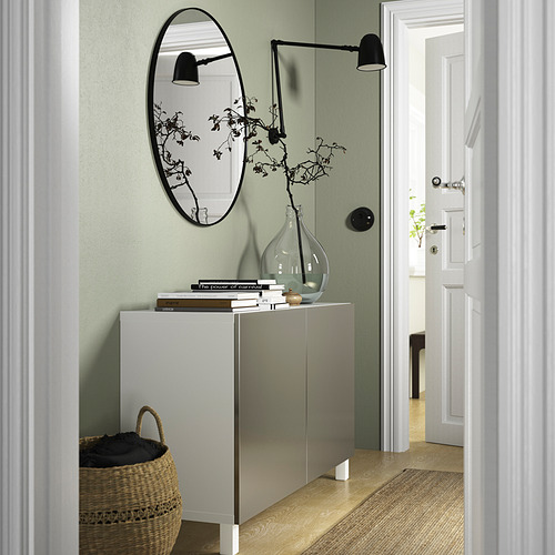 BESTÅ - 貯物組合連門, white/Riksviken/Stubbarp light bronze effect | IKEA 香港及澳門 - PE823228_S4