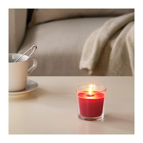 SINNLIG - 杯裝香味蠟燭, 紅莓/紅色 | IKEA 香港及澳門 - PE630191_S4