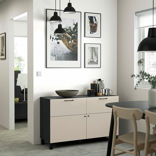 BESTÅ - 貯物組合連門/抽屜, black-brown/Lappviken/Stubbarp light grey-beige | IKEA 香港及澳門 - PE823506_S4