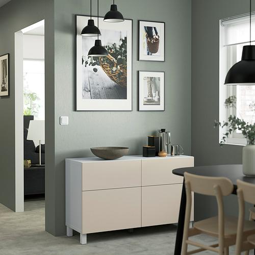 BESTÅ - 貯物組合連門/抽屜, white/Lappviken/Stubbarp light grey-beige | IKEA 香港及澳門 - PE823453_S4
