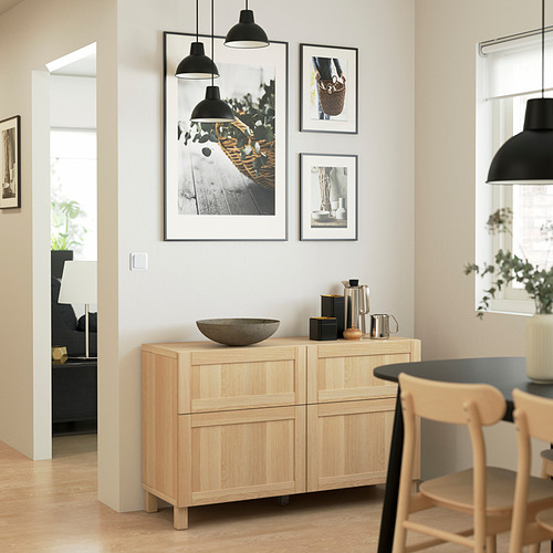 BESTÅ - 貯物組合連門/抽屜, white stained oak effect/Hanviken/Stubbarp white stained oak effect | IKEA 香港及澳門 - PE823403_S4