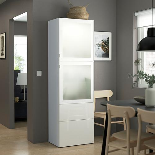 BESTÅ - 玻璃門貯物組合, white/Selsviken high-gloss/white frosted glass | IKEA 香港及澳門 - PE823569_S4
