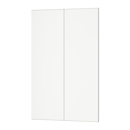 KUNGSBACKA 2-p door f corner base cabinet set