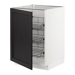 METOD - 地櫃連網籃, 白色/Lerhyttan 染黑色 | IKEA 香港及澳門 - PE678174_S3