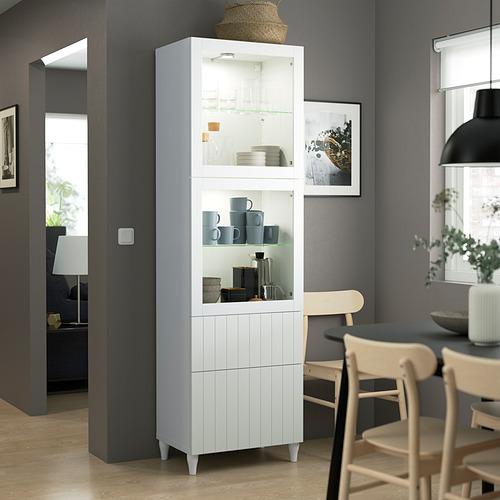 BESTÅ - 玻璃門貯物組合, white/Sutterviken/Kabbarp white clear glass | IKEA 香港及澳門 - PE823574_S4