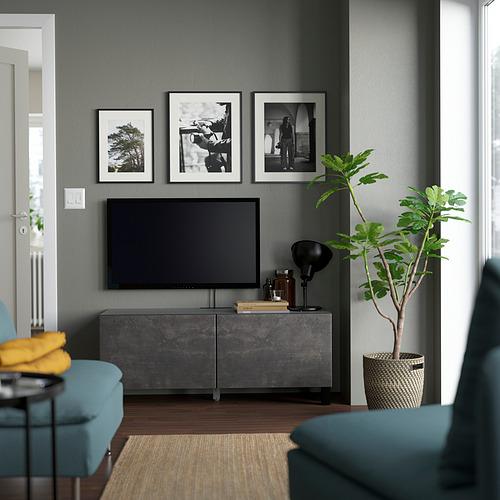 BESTÅ - 電視几連門, 棕黑色/Kallviken/Stubbarp 深灰色   IKEA 香港及澳門 - PE823678_S4