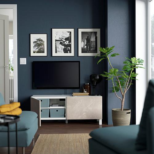 BESTÅ - 電視几連門, white Bergsviken/Stubbarp/beige | IKEA 香港及澳門 - PE823621_S4