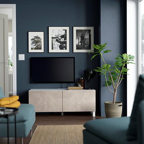 BESTÅ - 電視几連門, white Bergsviken/Stubbarp/beige | IKEA 香港及澳門 - PE823635_S4