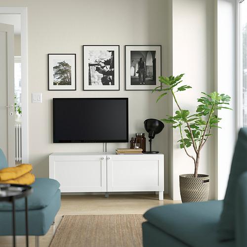 BESTÅ - TV bench with doors, white Hanviken/Stubbarp/white   IKEA Hong Kong and Macau - PE823664_S4