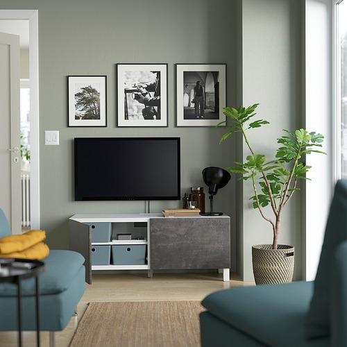 BESTÅ - 電視几連門, 白色 Kallviken/Stubbarp/深灰色 | IKEA 香港及澳門 - PE823642_S4