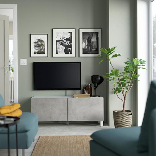 BESTÅ - 電視几連門, white Kallviken/Stubbarp/light grey | IKEA 香港及澳門 - PE823643_S4