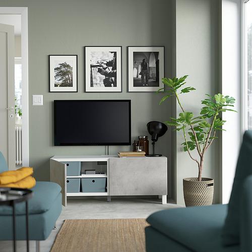 BESTÅ - 電視几連門, white Kallviken/Stubbarp/light grey | IKEA 香港及澳門 - PE823619_S4