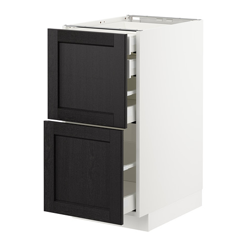 METOD - base cb 2 frnts/2 low/1 md/1 hi drw, white Maximera/Lerhyttan black stained   IKEA Hong Kong and Macau - PE678180_S4
