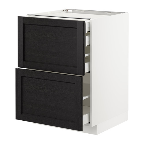 METOD - base cb 2 frnts/2 low/1 md/1 hi drw, white Maximera/Lerhyttan black stained | IKEA Hong Kong and Macau - PE678181_S4