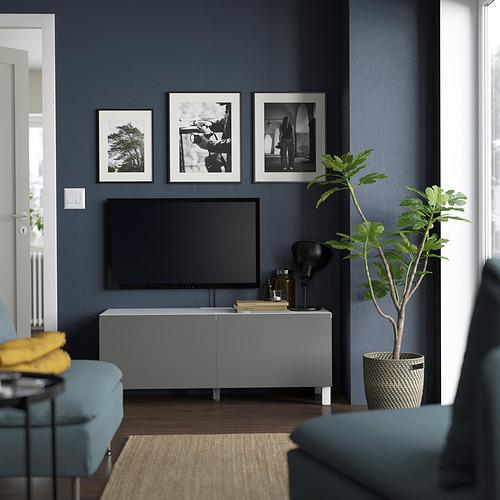 BESTÅ - TV bench with doors, white Västerviken/Stubbarp/grey   IKEA Hong Kong and Macau - PE823614_S4