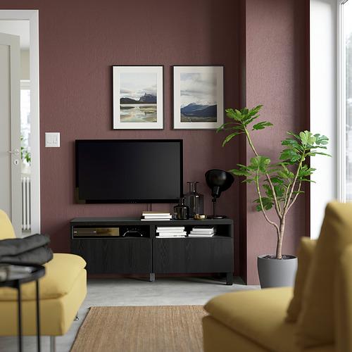 BESTÅ - 電視几連抽屜, black-brown/Timmerviken/Stubbarp black | IKEA 香港及澳門 - PE823803_S4