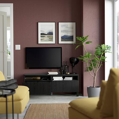 BESTÅ - 電視几連抽屜, black-brown/Timmerviken/Stubbarp black | IKEA 香港及澳門 - PE823725_S4