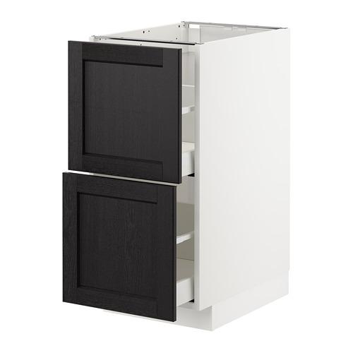 METOD - 廚櫃組合, 白色 Maximera/Lerhyttan 染黑色 | IKEA 香港及澳門 - PE678189_S4