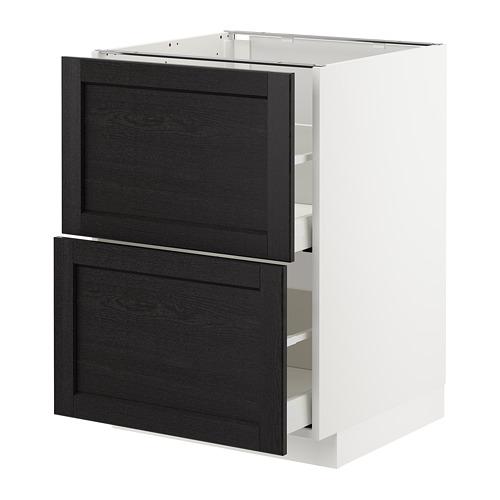 METOD - 廚櫃組合, 白色 Maximera/Lerhyttan 染黑色 | IKEA 香港及澳門 - PE678190_S4