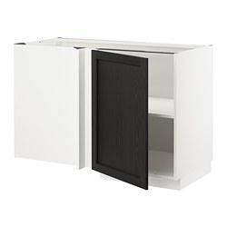 METOD - 角位地櫃連層板, white/Lerhyttan black stained | IKEA 香港及澳門 - PE678209_S3