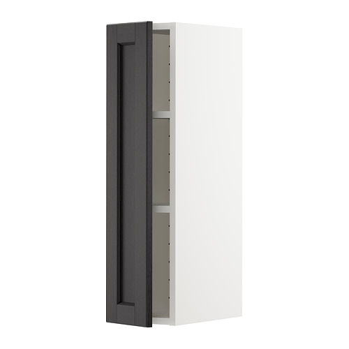 METOD - 吊櫃連層板, white/Lerhyttan black stained | IKEA 香港及澳門 - PE678247_S4