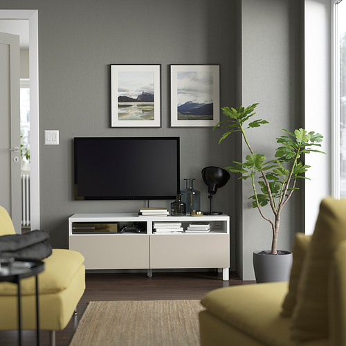 BESTÅ - 電視几連抽屜, white/Lappviken/Stubbarp light grey/beige | IKEA 香港及澳門 - PE823812_S4