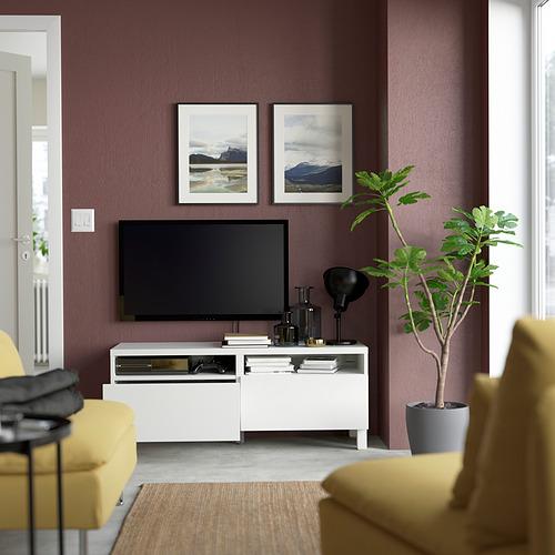 BESTÅ - 電視几連抽屜, white/Lappviken/Stubbarp white   IKEA 香港及澳門 - PE823749_S4