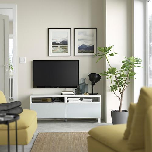 BESTÅ - 電視几連抽屜, white/Selsviken/Stubbarp light grey-blue   IKEA 香港及澳門 - PE823742_S4