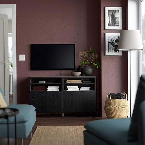 BESTÅ - 電視几連門, 棕黑色/Timmerviken/Stubbarp 黑色 | IKEA 香港及澳門 - PE823868_S4