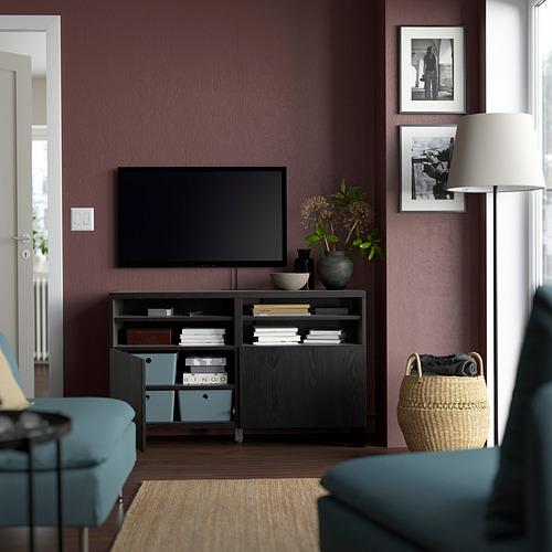 BESTÅ - 電視几連門, 棕黑色/Timmerviken/Stubbarp 黑色 | IKEA 香港及澳門 - PE823904_S4