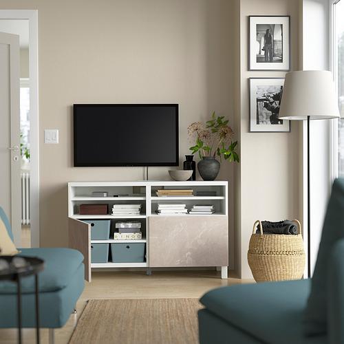 BESTÅ - 電視几連門, white/Bergsviken/Stubbarp beige   IKEA 香港及澳門 - PE823874_S4