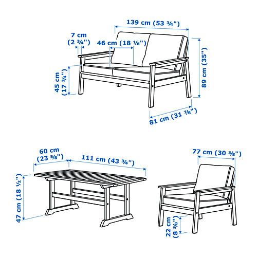 BONDHOLMEN 戶外四座椅組合
