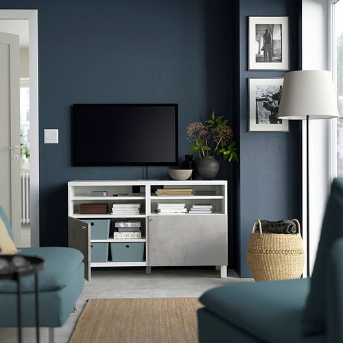 BESTÅ - 電視几連門, white/Kallviken/Stubbarp white | IKEA 香港及澳門 - PE823832_S4