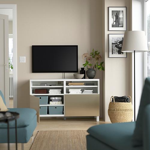 BESTÅ - 電視几連門, white/Riksviken/Stubbarp light bronze effect | IKEA 香港及澳門 - PE823898_S4