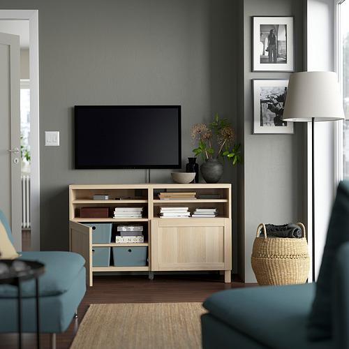 BESTÅ - 電視几連門, white stained oak effect/Hanviken/Stubbarp white stained oak effect | IKEA 香港及澳門 - PE823855_S4