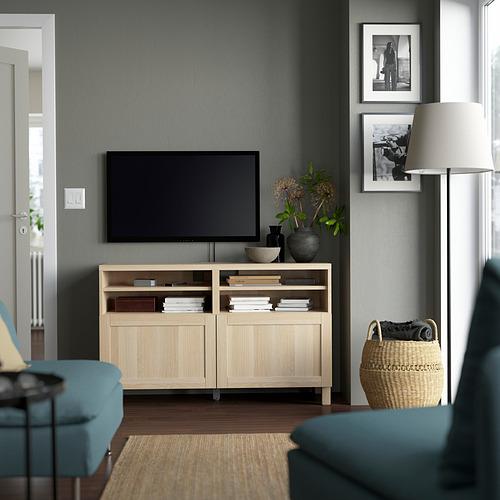 BESTÅ - 電視几連門, white stained oak effect/Hanviken/Stubbarp white stained oak effect | IKEA 香港及澳門 - PE823856_S4