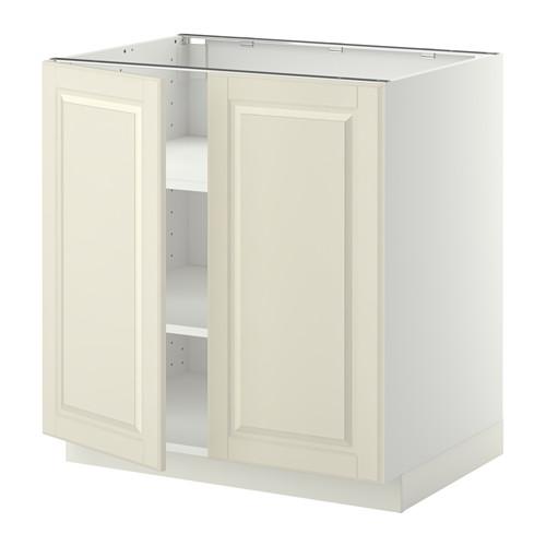 METOD - base cabinet with shelves/2 doors, white/Bodbyn off-white | IKEA Hong Kong and Macau - PE357182_S4