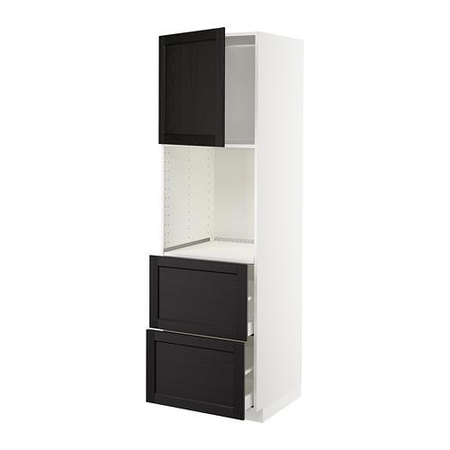 METOD/MAXIMERA - hi cab f ov w dr/2 frnts/2 hi drwrs, white/Lerhyttan black stained | IKEA Hong Kong and Macau - PE678455_S4