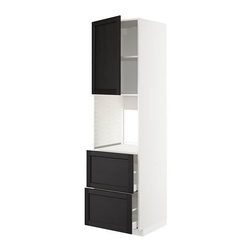 METOD/MAXIMERA - hi cab f ov w dr/2 frnts/2 hi drwrs, white/Lerhyttan black stained | IKEA 香港及澳門 - PE678456_S4