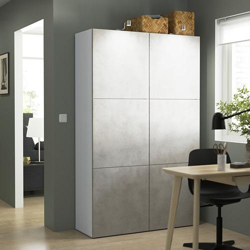 BESTÅ - 貯物組合連門, white Kallviken/light grey concrete effect | IKEA 香港及澳門 - PE823978_S4