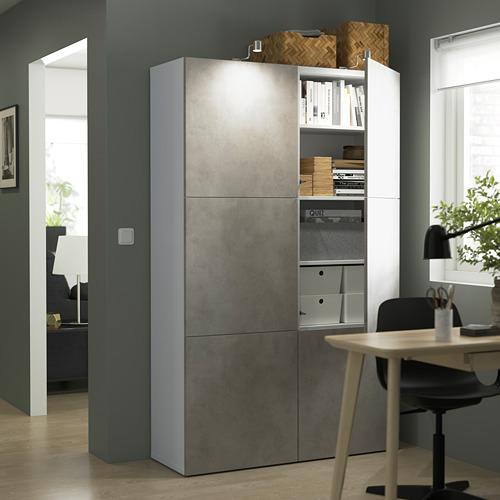 BESTÅ - 貯物組合連門, white Kallviken/light grey concrete effect | IKEA 香港及澳門 - PE823955_S4