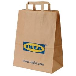 FRAKTA - 手提紙袋, 褐色 | IKEA 香港及澳門 - 80483023_S3