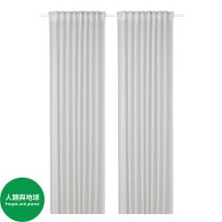 GUNRID - 空氣淨化窗簾,一對, 淺灰色 | IKEA 香港及澳門 - 80459221_S3