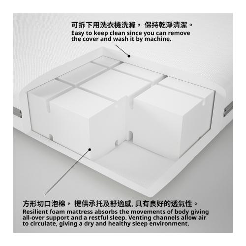 MALVIK - 單人泡膠床褥, 高度承托   IKEA 香港及澳門 - 00272251_S4