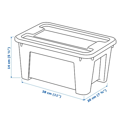 SAMLA - 5 litres box with lid | IKEA Hong Kong and Macau - 39885749_S4