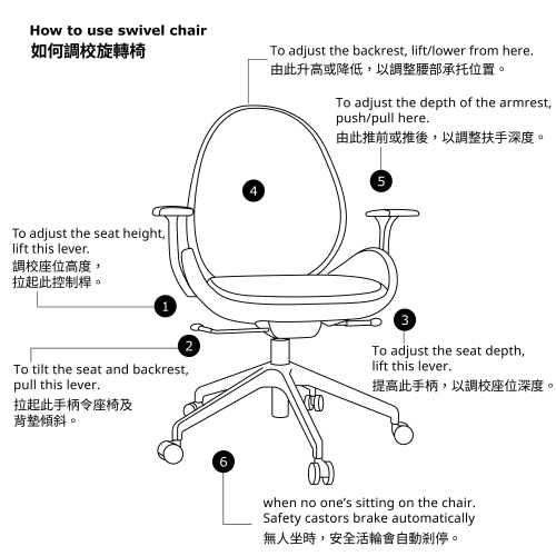 HATTEFJÄLL - office chair with armrests, Gunnared beige/white   IKEA Hong Kong and Macau - 29252120_S4