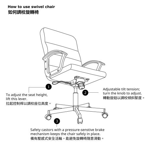 RENBERGET - 旋轉椅, Bomstad 黑色 | IKEA 香港及澳門 - 60339418_S4