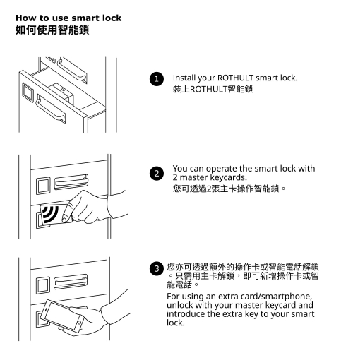 BEKANT - storage unit with smart lock, mesh black | IKEA Hong Kong and Macau - 49295703_S4